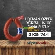 %100 Dana Afyon Sucuğu 2Kg
