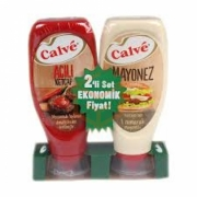 Calve (2`li Set) Acılı Ketçap 520 Gr+mayonez 455 Gr  8'li Koli