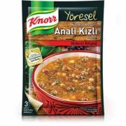 Knorr Yöresel Bulgurlu Analı Kızlı Çorba 12' li Paket