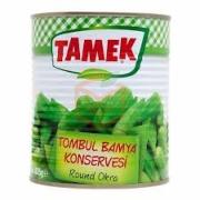 Tamek Tombul Bamya Konservesi 825 Gr Teneke 12' li Koli