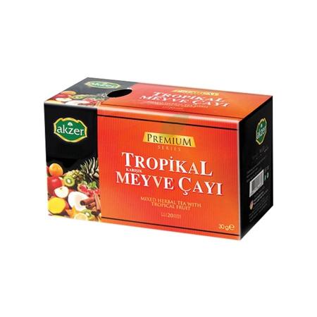Akzer Tropik Karışık Meyve Çayı (30 Gr)   Gıda Ambarı