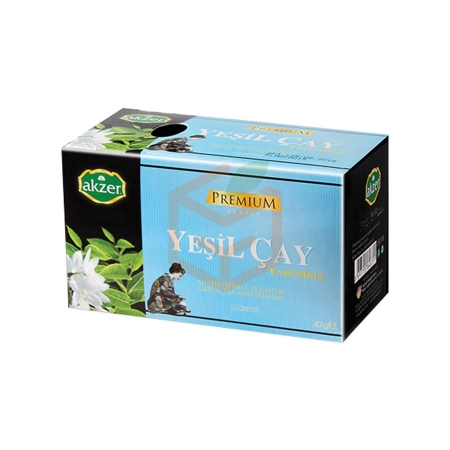 Akzer Yaseminli Yeşil Çay (40 Gr) | Gıda Ambarı