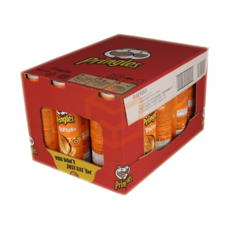 Pringles Paprika 130gr (sarı) - 19lu Koli | Gıda Ambarı