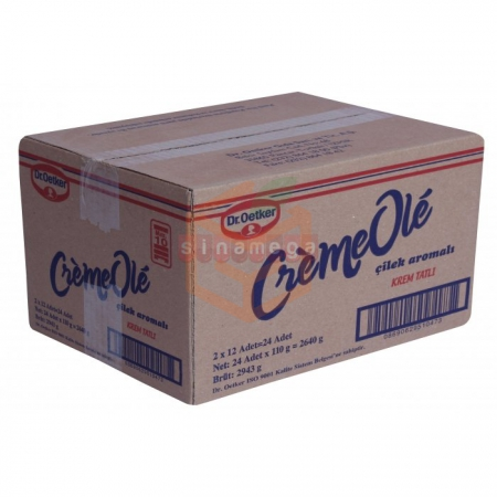 Dr.oetker Cremeole Çilekli 110gr - 24lü Koli | Gıda Ambarı