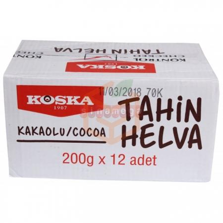 Koska Helva 200gr Kakaolu - 12li Koli  | Gıda Ambarı