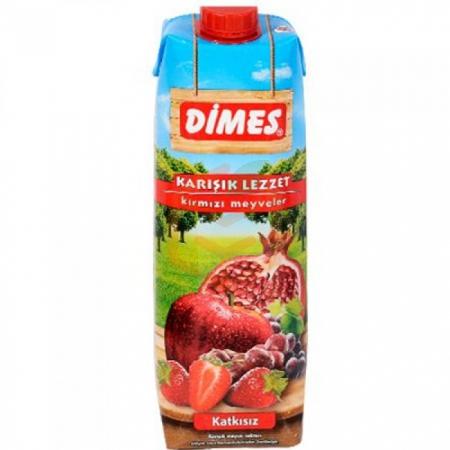 Dimes Kırmızı Meyveler 1lt - 12li Koli  | Gıda Ambarı