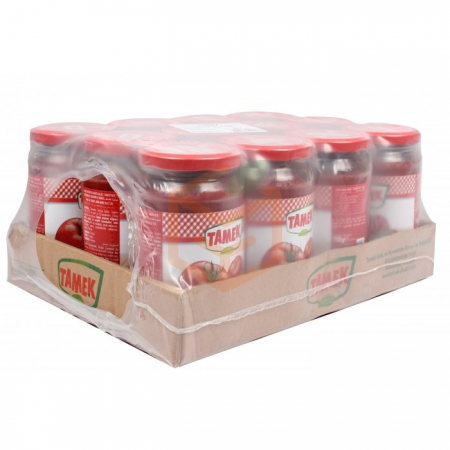Tamek Domates Salça 700g Cam - 12li Koli  | Gıda Ambarı