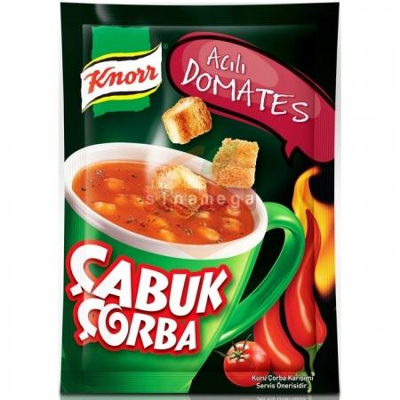 Knorr Çabuk Çorba Acılı Domates - 24lü Paket