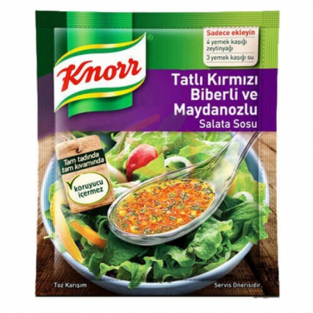 Knorr Salata Sosu Tatlı Kırmızı Biberli-maydonuzlu 5li -18li Paket    Gıda Ambarı
