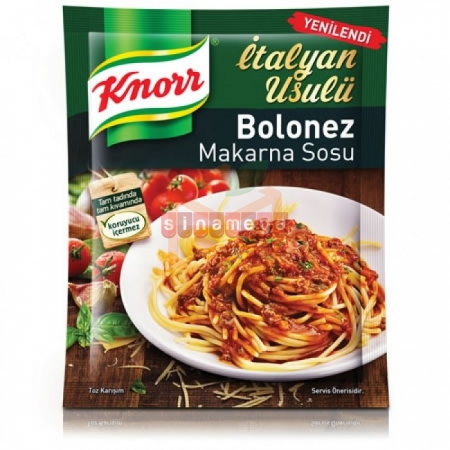Knorr Makarna Sosu Spagetti Bolonez  - 12li Paket  | Gıda Ambarı