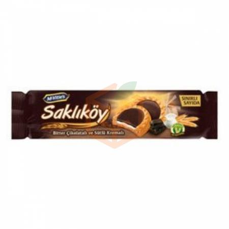 Ülker Saklıköy Bitter Çikolata Kremalı Bisküvi 87gr -24lü Koli