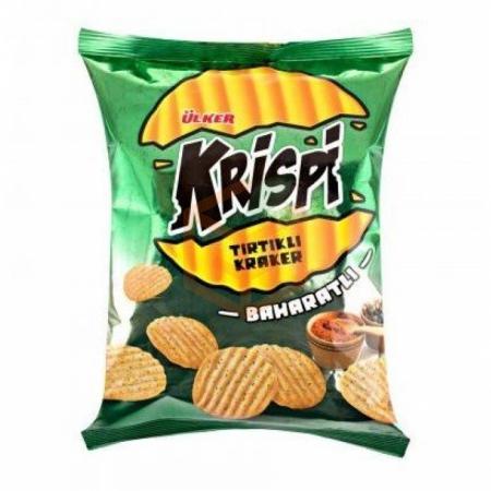 Ülker Krispi Tırtıklı Kraker Baharatlı 48gr (yeşil)-20`li Koli | Gıda Ambarı