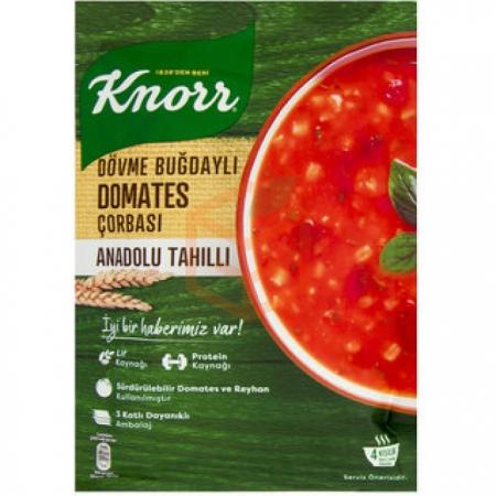 Knorr Yöresel Dövme Buğdaylı Domates Çorba-12`li Paket | Gıda Ambarı