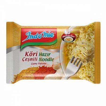İndomie Köri Çeşnili Hazır Noodle 75gr-40`lı Koli (turuncu) | Gıda Ambarı