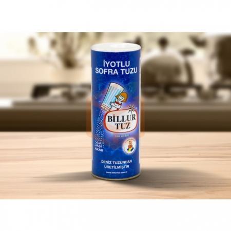 Billur Tuz İyotlu Sofra Tuzu Karton Tuzluk 125gr - 24`lü Koli | Gıda Ambarı