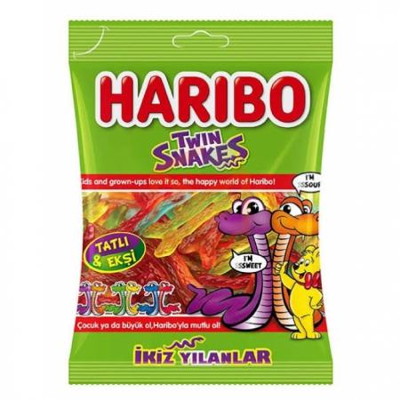 Haribo Twin Snakes (ikiz Yılanlar) 67gr - 24lü Koli    Gıda Ambarı