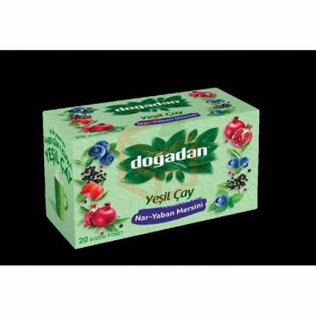 Doğadan Yeşil Çay Nar Yaban Mer.antioksidanlı 20li -12li Koli  | Gıda Ambarı
