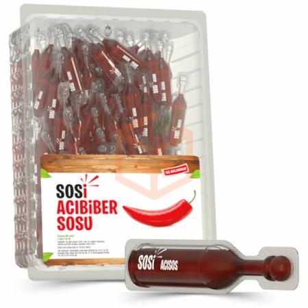Sosi (tek Kullanımlık) Acıbiber Sosu 10ml -80`li Paket   Gıda Ambarı