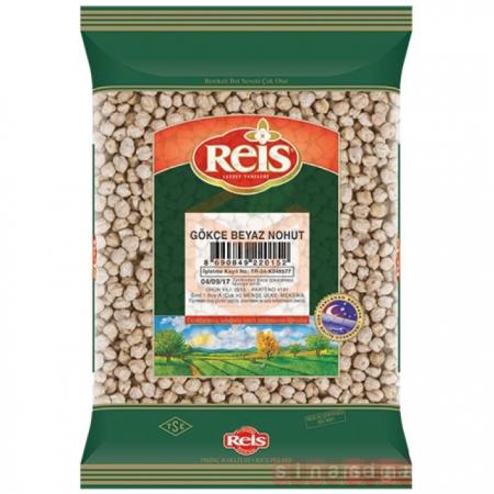 Reis 1000gr Gökçe Beyaz Nohut - 20li Koli  | Gıda Ambarı