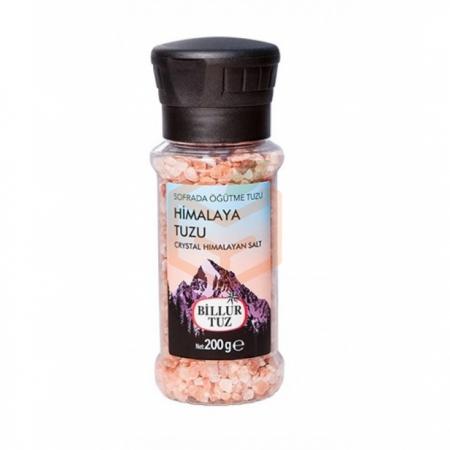 Billur Tuz Değirmen Himalaya Tuzu 200gr -6lı Koli  | Gıda Ambarı