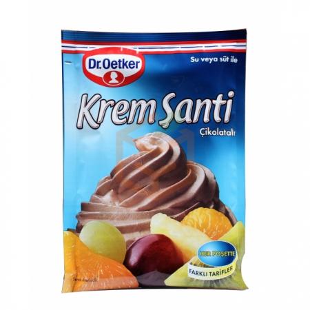 Dr.oetker Krem Şanti (poşet) Çikolatalı 80gr - 24lü Koli  | Gıda Ambarı