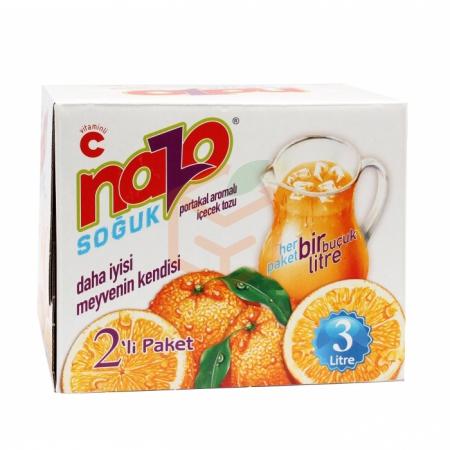 Nazo Toz İçecek Portakal 9gr -24lü Paket (1.5 Litre -adet)  | Gıda Ambarı