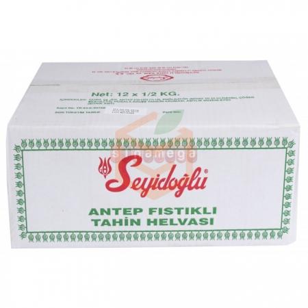 Seyidoğlu Tahin Helva 500gr Fıstıklı - 12li Koli | Gıda Ambarı
