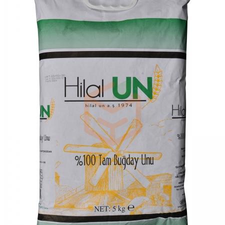 Hilalun Taş Değirmende Öğütülmüş %100 Tam Buğday Unu (5kg) 5 Tb   Gıda Ambarı