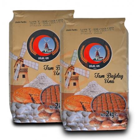 Hilalun Taş Değirmende Öğütülmüş, %100 Tam Buğday Unu (2 Kg X 2 Pk) Tb 2 | Gıda Ambarı