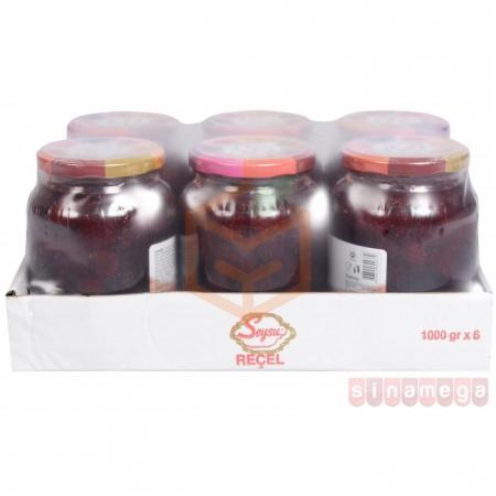 Seysu (kavanoz) Reçel 1000gr Böğürtlen - 6lı Koli   Gıda Ambarı
