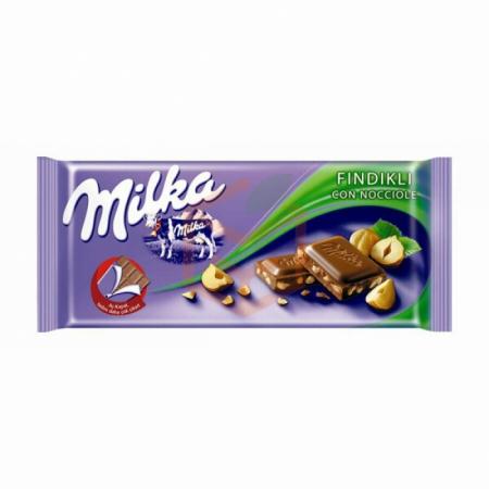 Milka Tablet Fındıklı Çikolata 80gr-25li Paket (669672) | Gıda Ambarı