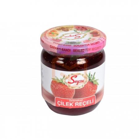 Seysu (kavanoz) Reçel 500gr Çilek - 12li Koli | Gıda Ambarı
