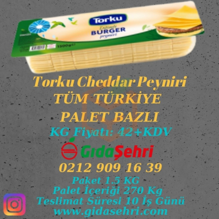 Palet Bazlı Torku Cheddar Dilimli Burger (270 Kg)   Gıda Ambarı