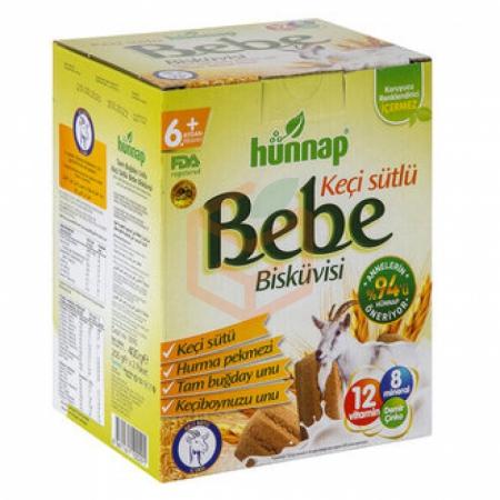 Hünnap Keçi Sütlü Bebe Bisküvisi 400 G*6 (6 Adet) | Gıda Ambarı