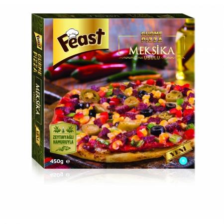Feast Gurme Dondurulmuş Meksika Usulü Pizza 450 Gr (min. 2 Paket)    Gıda Ambarı