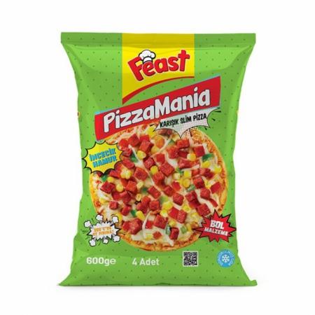 Feast Dondurulmuş Karışık Pizza 600 Gr*6adet   Gıda Ambarı