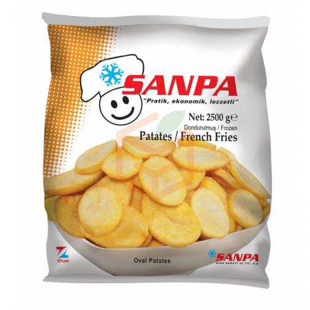 Sanpa Bonfrit Oval Düz Patates 2.5 Kg (min. 2.5 Kg)   Gıda Ambarı