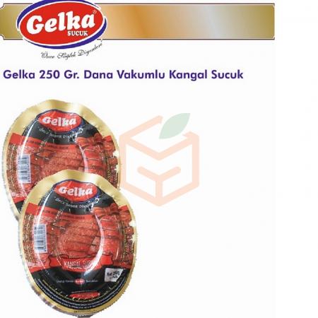 Gelka 250 Gr. Dana Vakumlu Kangal Sucuk(koli De 12 Adet Mevcut) | Gıda Ambarı