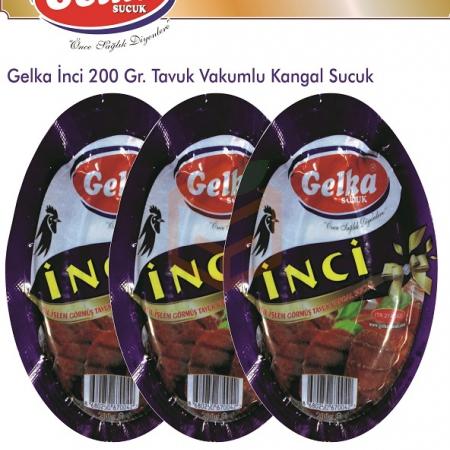 Gelka İnci 200 Gr. Tavuk Vakumlu Kangal Sucuk(koli De 14 Adet Mevcuttur.) | Gıda Ambarı