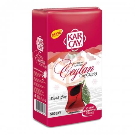 Karçay Ceylan Bergamot Aromalı Siyah Çay 500gr 12 Adet | Gıda Ambarı