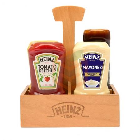 Heinz 4lü Ahsap Set Sosluk Hediyeli | Gıda Ambarı