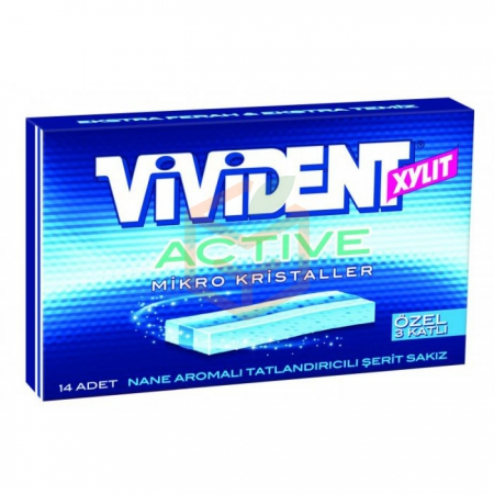 Vivident Yaprak Active 33gr Micro Kristal - 18li Paket | Gıda Ambarı