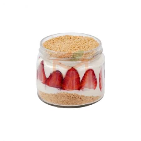 Magnolia Çilek Cam Kavanoz (min. 4 Adet)  | Gıda Ambarı