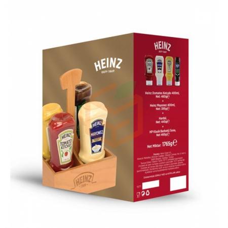 Heinz 4lü Ahsap Set Kutulu   Gıda Ambarı