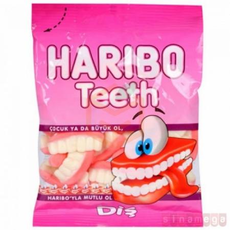 Haribo Diş (teeth) 80gr -24lü Koli | Gıda Ambarı