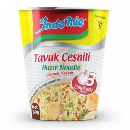İndomie (bardak) Tavuk Aromalı Hazır Noodle 60gr -24lü Koli | Gıda Ambarı