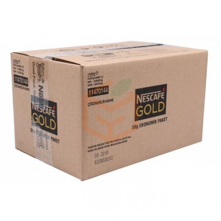 Nescafe Gold 50 Gr (poşet)  12' li Koli Toptan - İçecekler - Kahve -