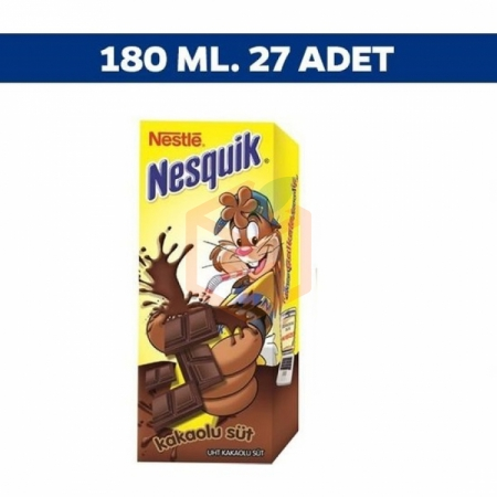 Nestle Nesquik Kakaolu Süt 180ml - 27li Koli