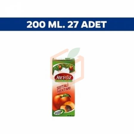 Meyöz Şeftali 200 ml - 27' li Koli | Gıda Ambarı