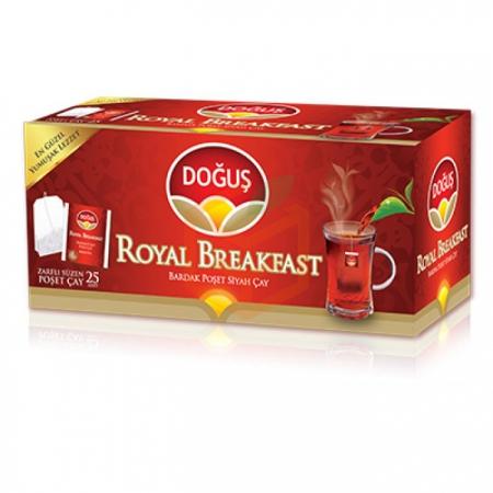 Doğuş Royal Breakfast 25' li Bardak Poşet - 12' li Koli | Gıda Ambarı
